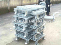 Foldable wire storage container/cage