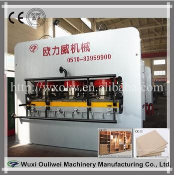 Melamine laminated plywood board furniture press machine