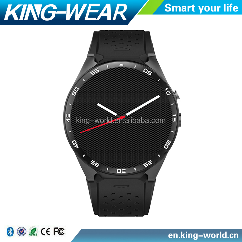 Kingwear 3G smart watch Android 5.1 Amoled Screen MTK6580 Quad Core GPS Gravity Sensor Pedometer Bluetooth 4.0