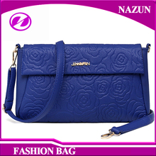 2016 Fashion European Design Elegant Blue PU leather Mini Cross Body Fashion Shoulder Hand bags