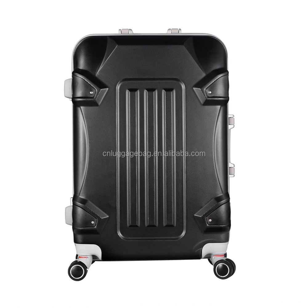 2015 new style ABS aluminium frame upright trolley case