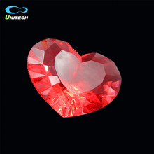 Accept Customized red heart shape crystal diamond with acrylic
