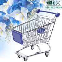 home decorative item mini shopping trolley