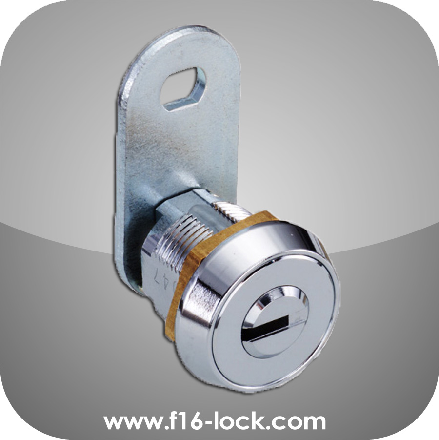 High Quality Custom Made Brass Chrome Plated 9 Pins Tumbler Cam Lock C7920 for Vending Machine