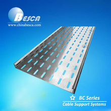 hot dipped galvanized perforated Cable Tray manufacturer / Polyester epoxy powder coating (UL.CE.c-UL.NEMA.ISO.IEC)