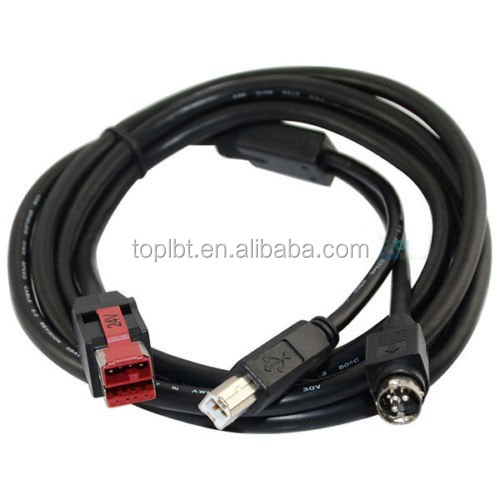 24V Powered USB Cable for POS Terminals Printers