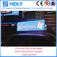 Hidly factory low price P5 GPS 3g wifi led taxi display panel