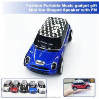 Fashionable Portable Speaker Car Shaped Music gadget gift Mini Speaker with FM