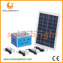 New style portable mini LED rechargeable 10W 7Ah Home mini projects solar power systems