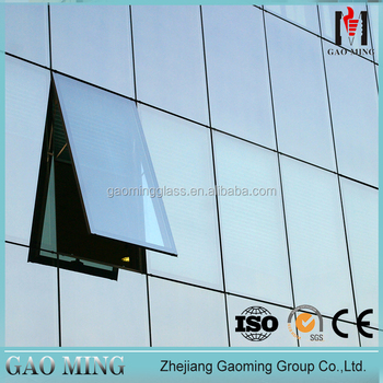 Facade Curtain Wall Glazing Frameless Glass Curtain Wall for Sale 1758