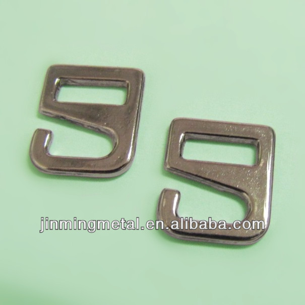 Metal Decorative Figure '9' Ornaments For bags