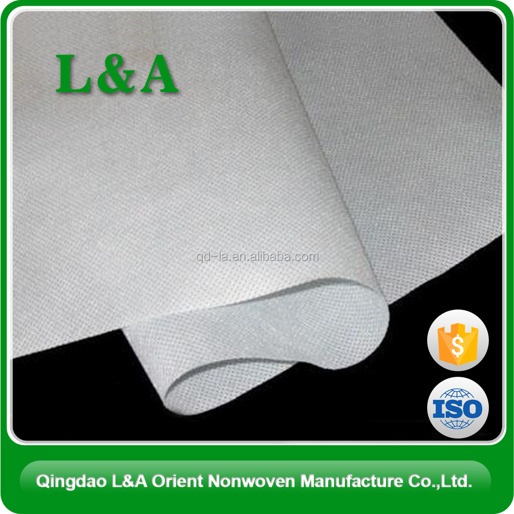 100% PET Spunbonded Nonwoven Fabric / Polyester Waterproof Nonwoven Fabric