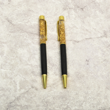 New design popular gold foil crystal metal ballpoint pen for promotion gift