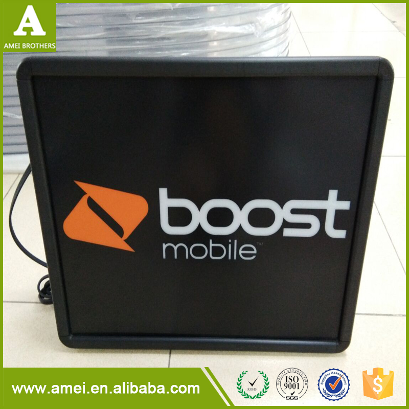 Popular Customized Equipment Plastic Advertising Display Box With Led Light