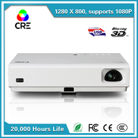 latest technology DLP laser projector outdoor, hdmi micro sd card multimedia video projector cre x3000