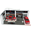 Detian Offer CAR fair exhibition stand advertising display exhibition booth portable