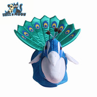 Halloween Luxury Blue Peacock Cosplay Pet Dog Cat Costume