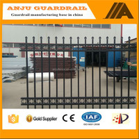 DK038 Prefab security steel fence panels and gates deign