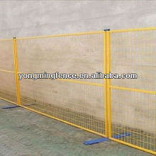 2012 factory direct selling canada outdoor temporary fence for domestic housing sites