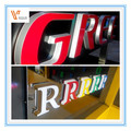 Custom high quality led channel letter signs, surface mirror polished decorative led channel letter signs