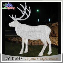 L:6.0m W:1.5m H:2.2m Acrylic deer Christmas light decoration with led Santa Claus