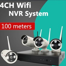 usc finest-quality security cam 4ch nvr kit outdoor wireless ip camera system WIFI P2P NVR low price