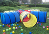 Colorful dog agility training open tunnel PVC dog tunnel