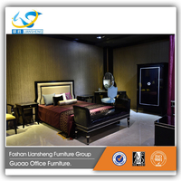 Chinese Style Simple Bedroom Furniture Fabric Bed 2016