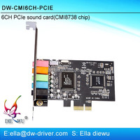 Rohs cmi8738 pci usb recording sound card driver 6ch