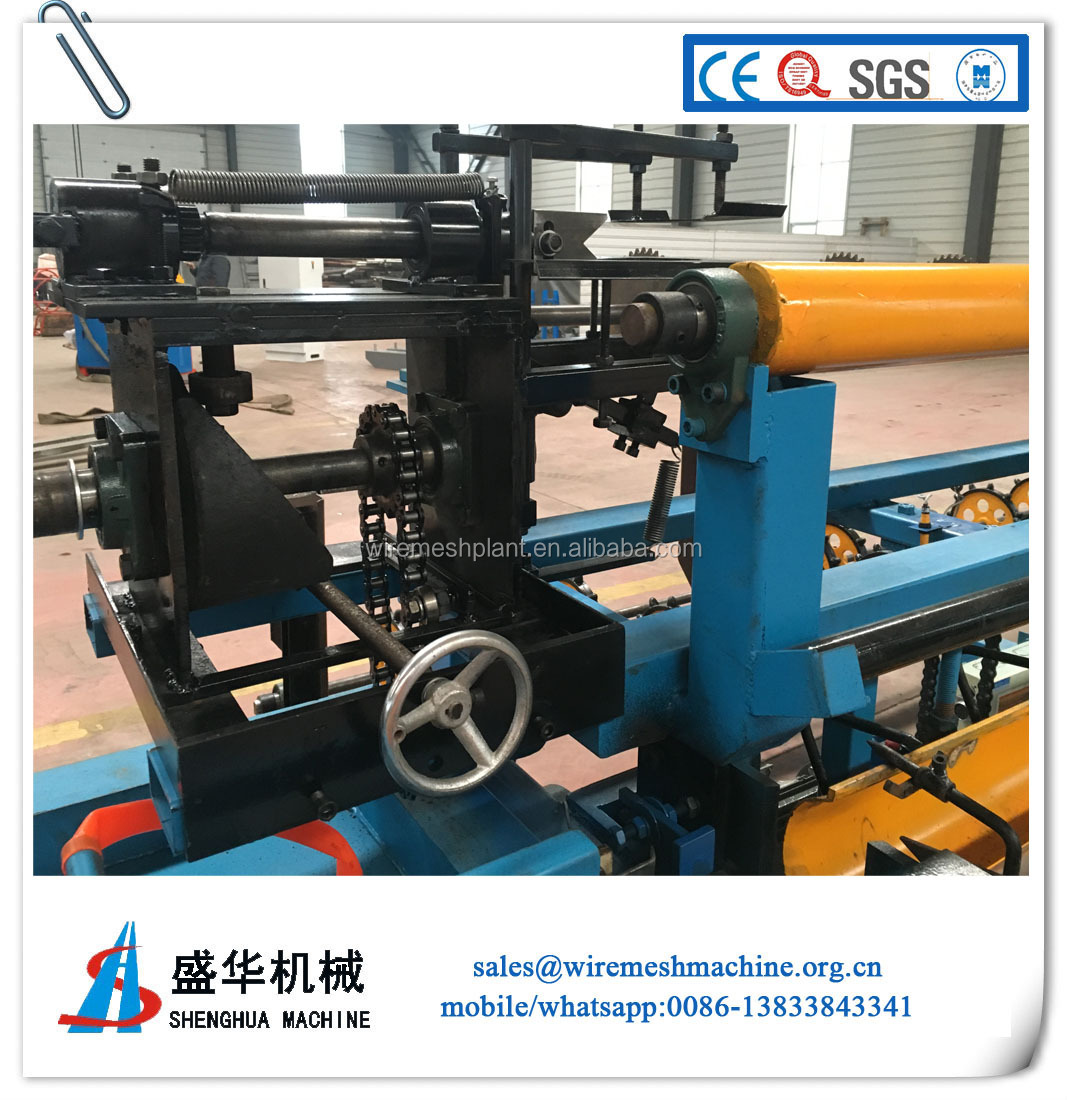 Good price good after-sales service of semi-automatic chain link fence machine with low