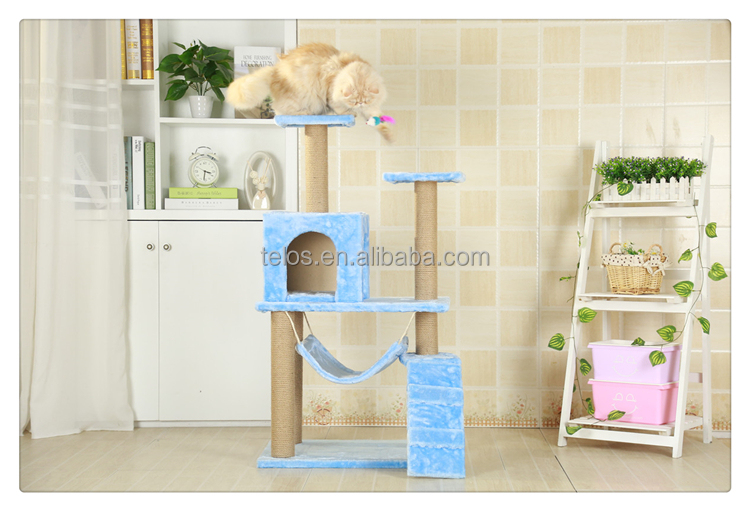 Cat Scratcher Toy Wood Climbing Tree Cat Jumping Toy with Ladder Climbing Frame Cat Furniture