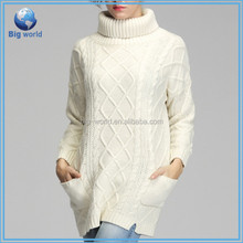 Women Turtle Neck Oversized Knitted Sweater Tops Loose Outwear Coat Pullover