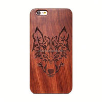 Blank Wood Case For Iphone 6 6G 4.7 Inch,PC TPU Wood Skin Mobile Phone Cover