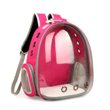 Outdoor Travel Bag Breathable Portable Transparent Plastic Waterproof Pet Car Seat Backpack Carrier Cases For Small Dog and Cat