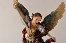 archangel-michael figurine in polyresin material crafts