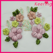 Keering new arrival fashion hand work flower design ribbon embroidery WPHA-047