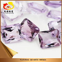 Wholesale facets cut octagon natural rough stone amethyst beads