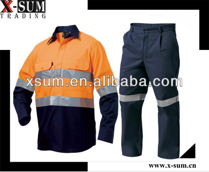 Industrial Cotton Coverall Workwear Technician Uniform
