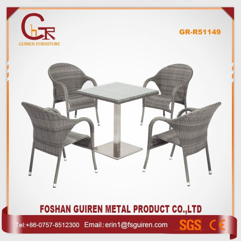China Supplier Pleasant resin wicker dining chairs