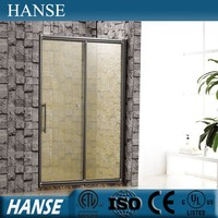 HS-OEM-N for home use special pattern printing colored glass shower