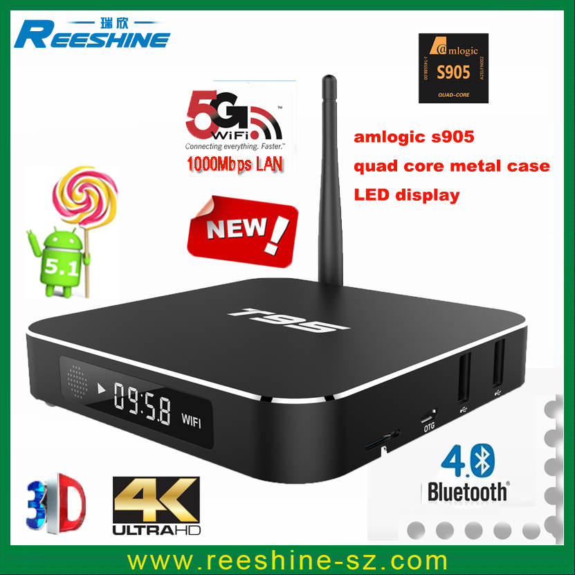 hot new products for 2016 t95 amlogic s905 firmware android tv box tablet android 5.1