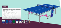 Newly Developed Double-folding Movable Table Tennis Table (6121)