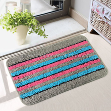 2015 the new simple and fashion stripe pattern coral fleece balcony floor mat/study /bedroom/living room /study earth MAT