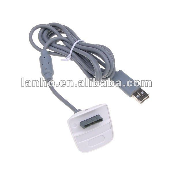 2 in 1 Data Sync Charging Cable Adapter for Wii Xbox 360 Wireless Controller
