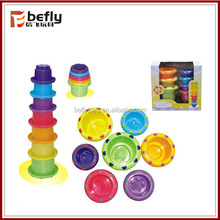 Educational plastic baby stacking cups toys