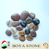 engraved pebble stone, carved cobbles stone, pretty river stone gift