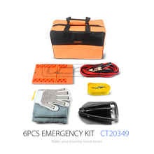 High Quality and Hot Sale Car Emergency Tool Kit with Collapsible Shovel and Booster Cable