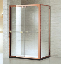 Shining Aluminium Frame Glass Shower Room with Two Sliding Door(A-1532)