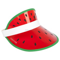 Summer promotion pvc plastic sun visor hat cap with watermelon design