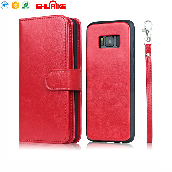 2018 Shuaike Best selling detachable case for iPhone 7,Magnetic Leather Case wallet mobile phone case for iPhone 7 Customs Data